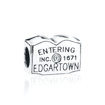 Entering Edgartown Town Sign bead