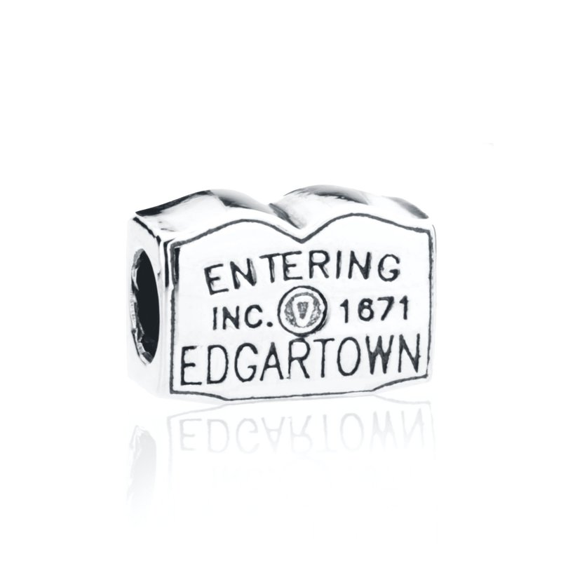 Entering Edgartown Town Sign bead
