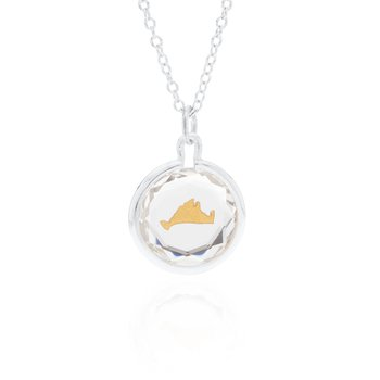 Swarovski Crystal with gold enamel Martha's Vineyard necklace