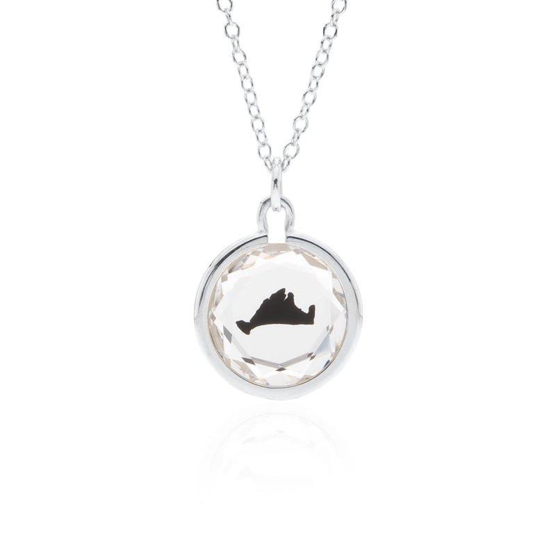 Swarovski Crystal with black enamel Martha's Vineyard necklace