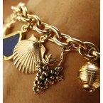 Heavy Oval Link charm bracelet
