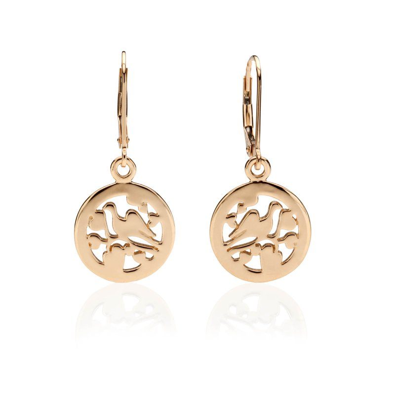 Gingerbread Collection Love Dove earrings