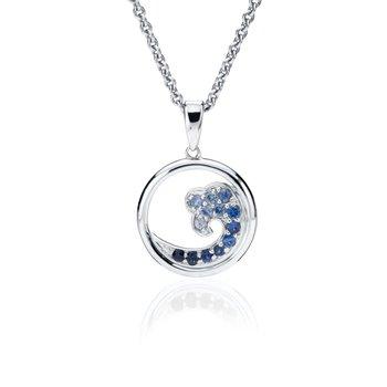 Sapphire Small Wave pendant