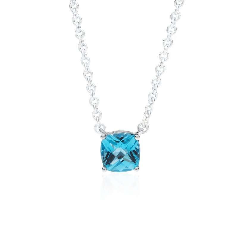Wave Collection small pendant with blue topaz