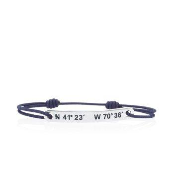 Martha's Vineyard Coordinates Tie bracelet