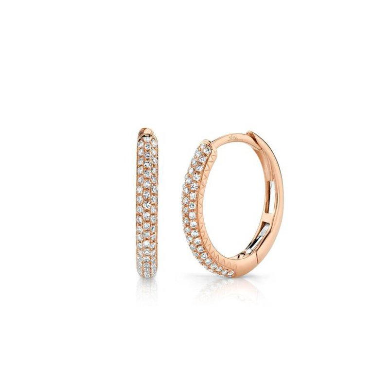 Pave Diamond Huggie Earrings