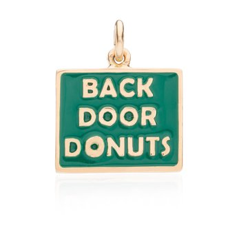 Back Door Donuts Enamel charm