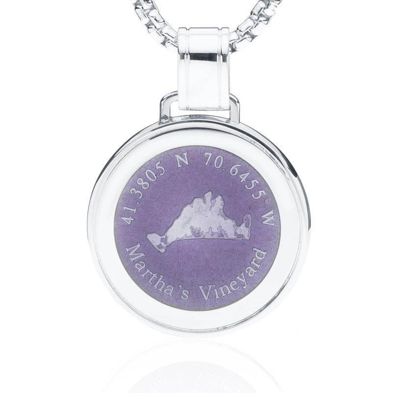 Martha's Vineyard Large Enamel Purple pendant