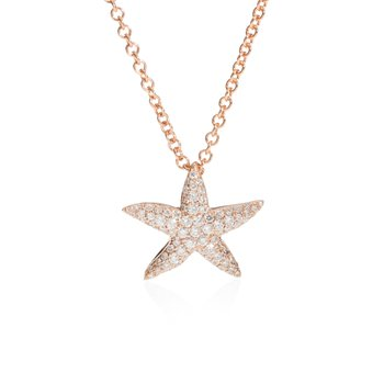 Diamond Pave Starfish pendant