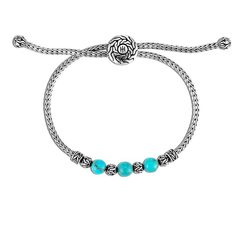 John Hardy Turquoise Pull Through Bracelet
