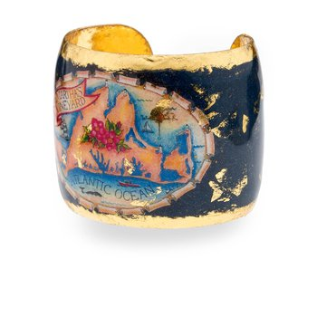 Martha's Vineyard Cuff featuring the artwork of Margot Datz