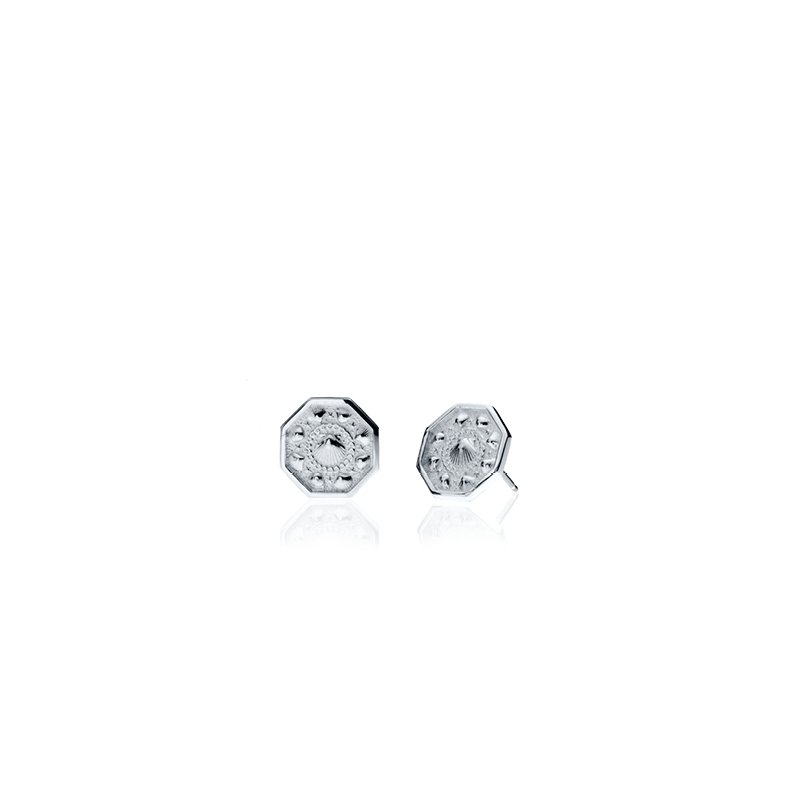 Tiny Sailor's Valentine earrings