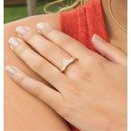 Contemporary Pave Diamond Martha's Vineyard ring