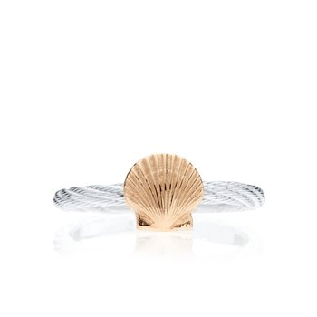 Cable ring with Scallop