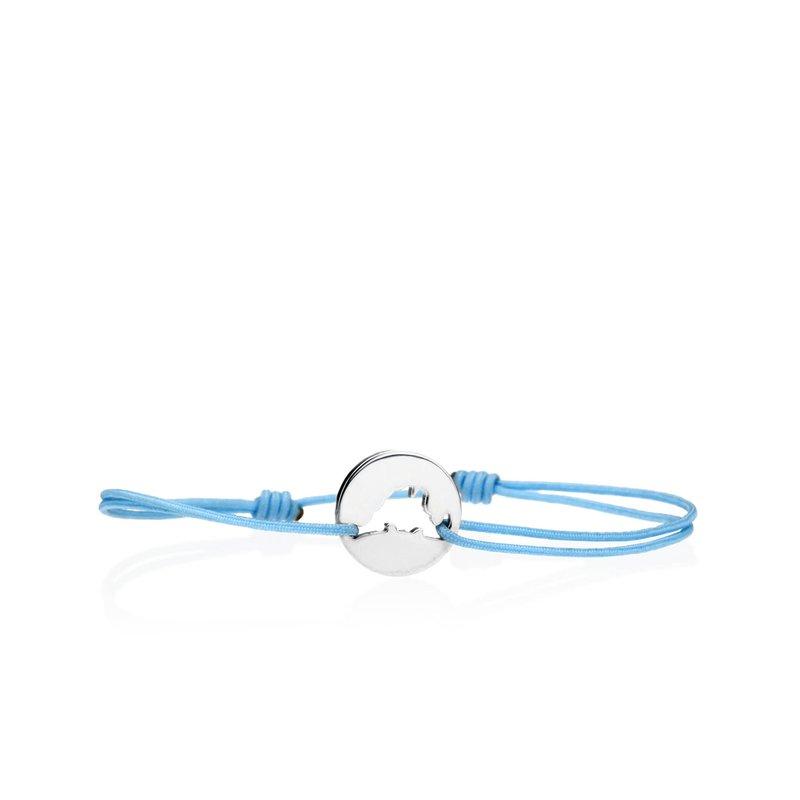 Classic 14K White Gold Island Tie bracelet Small