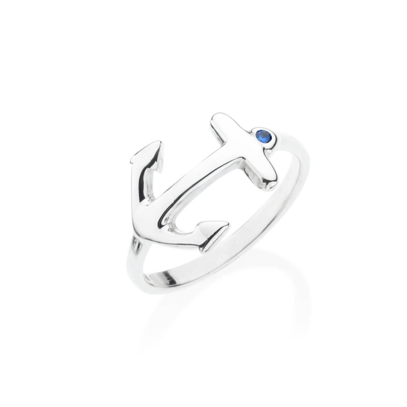 Anchor ring with sapphire