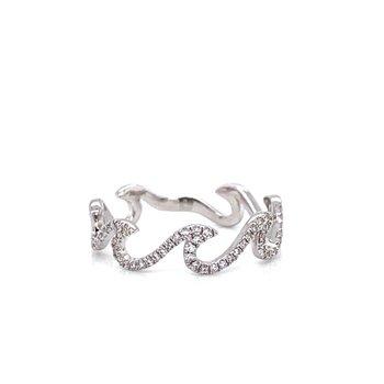 Diamond Pave Wave ring