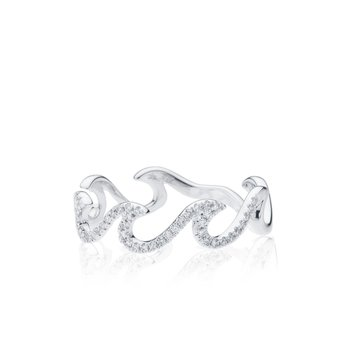 Diamond Pave Wave ring