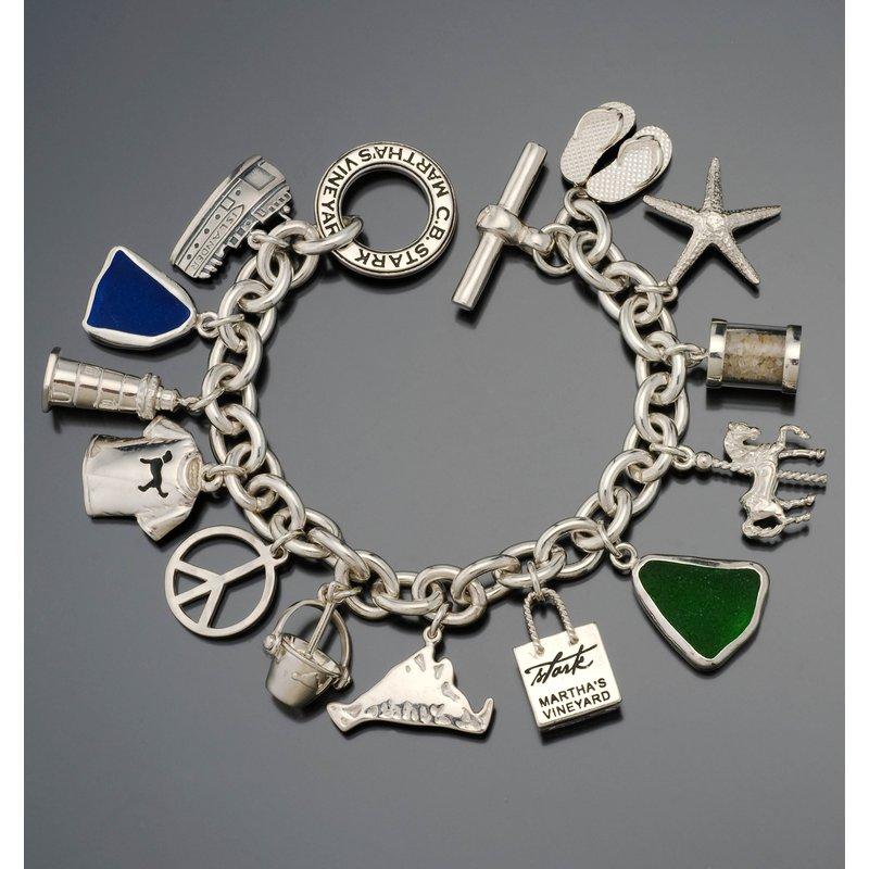 CB Stark Heavy Signature Toggle charm bracelet