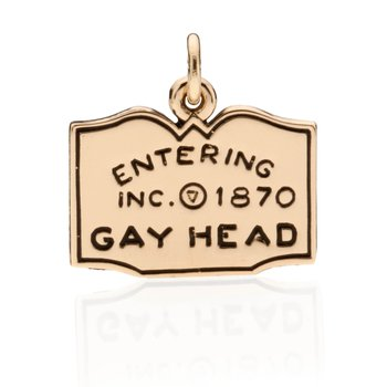 Entering Gay Head Town Sign charm