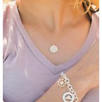 Diamond Martha's Vineyard Medallion necklace