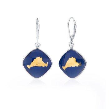 Martha's Vineyard lapis layered earrings