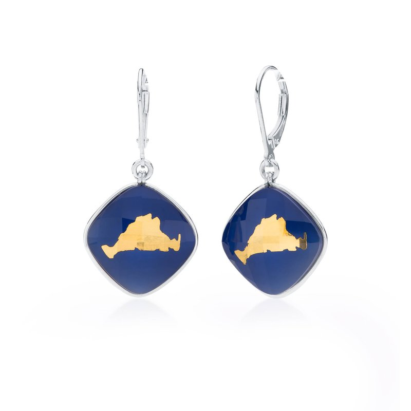 Martha's Vineyard lapis layered earrings