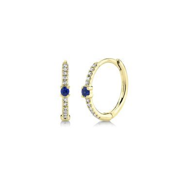 Sapphire and Diamond Huggie Earrings