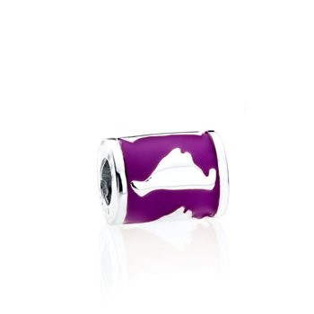 Martha's Vineyard Enamel Barrel charm bead