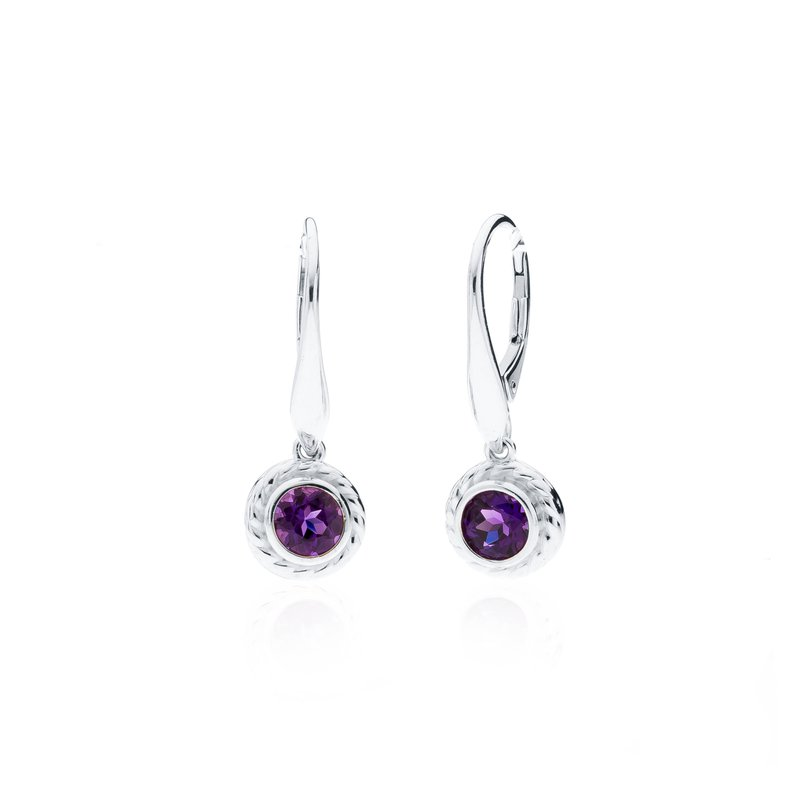 Rigging Collection Amethyst Drop earrings