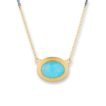 "Lika Behar ""Pia"" Kingman Turquoise necklace"