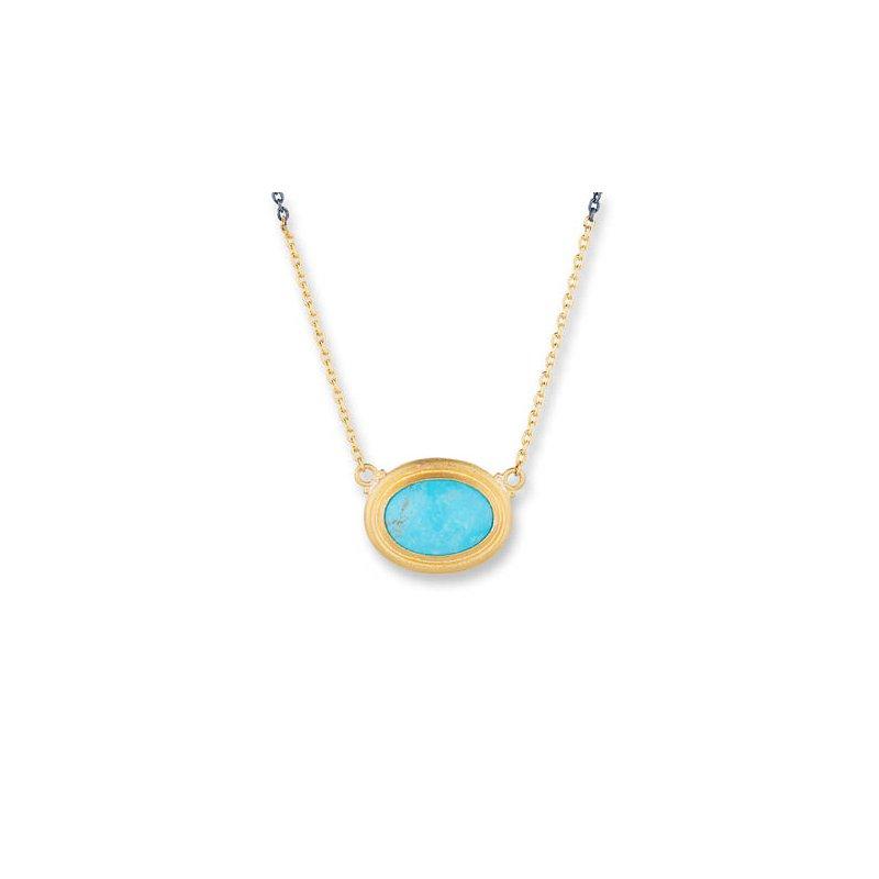 """Lika Behar """"Pia"""" Kingman Turquoise necklace"""
