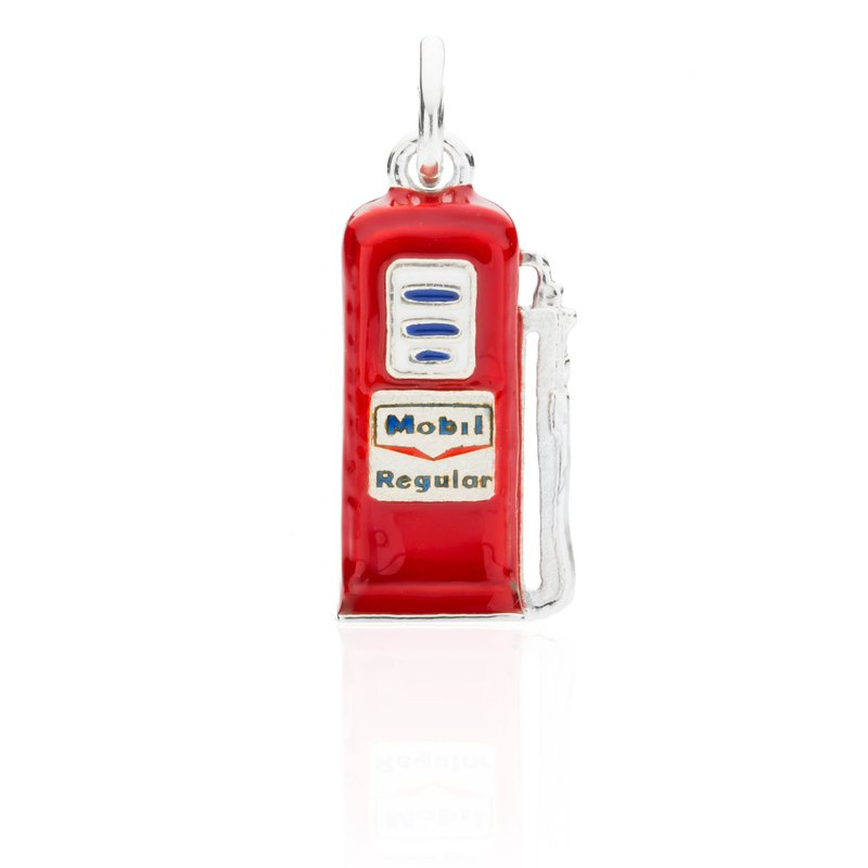 North Road Gas Pump Enamel charm