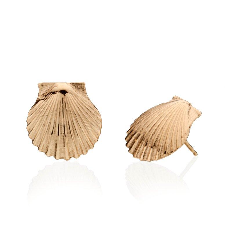 Chilmark Scallop Shell medium earrings