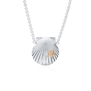 Chilmark Scallop Shell necklace with 14K Starfish