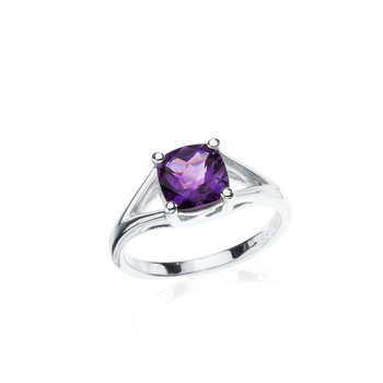 Wave Collection ring with amethyst