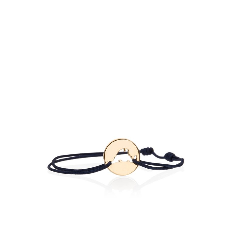Classic 14K Yellow Gold Island Tie bracelet Small