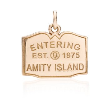 Entering Amity Island Town Sign charm