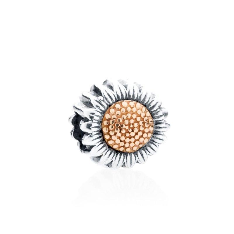 Sunflower charm bead