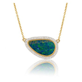 "Lika Behar ""Ocean"" Opal doublet reversible necklace"