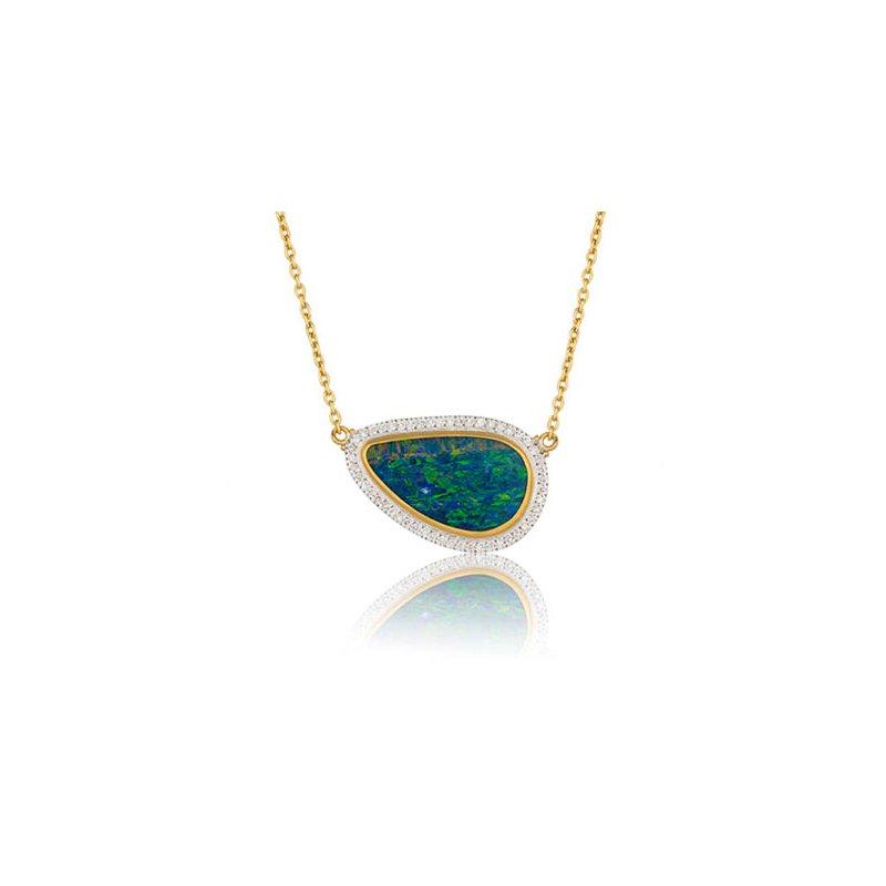 "Lika Behar ""Ocean"" Opal doublet reversible necklace"