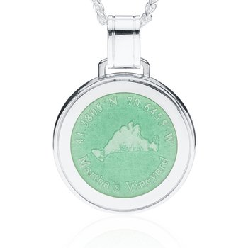Martha's Vineyard Large Enamel Light Green pendant