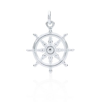 Charles W Morgan Ship's Wheel charm