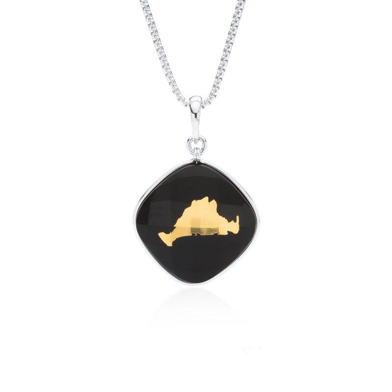 Martha's Vineyard onyx layered pendant