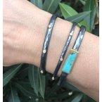 """Lika Behar """"Baby Stockholm"""" Diamond Oxidized Silver Cuff Bracelet"""