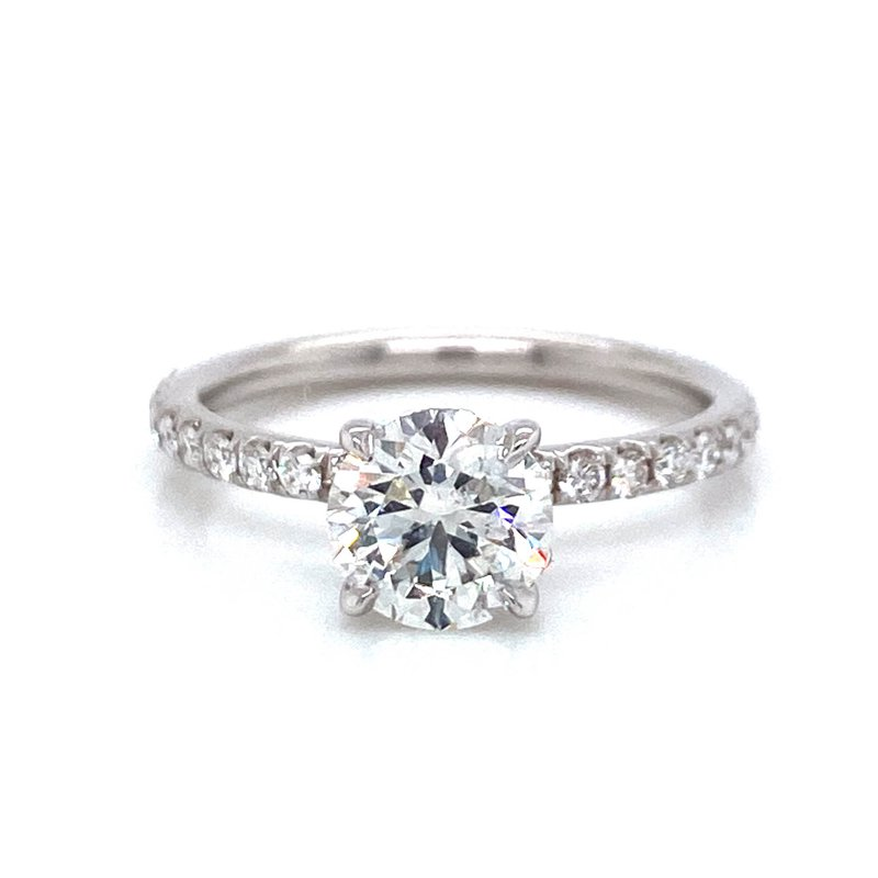 1.29ct Round Diamond Engagement Ring