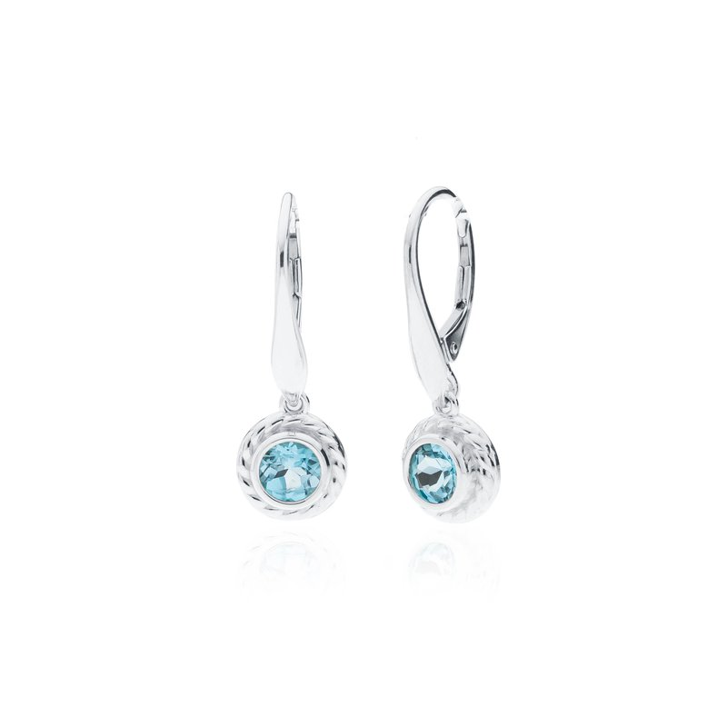 Rigging Collection Blue Topaz Drop earrings