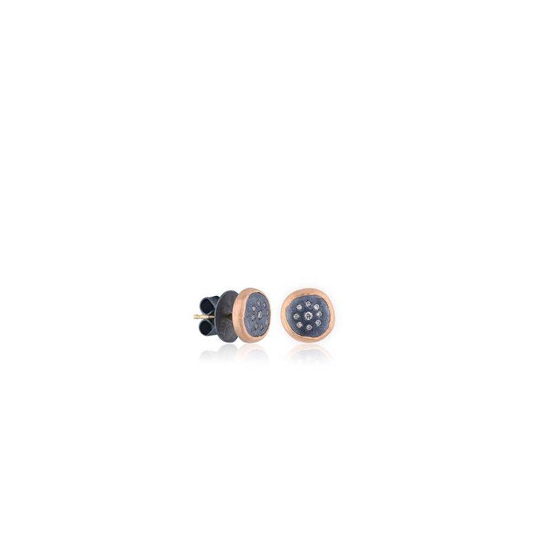 "Lika Behar ""Peach Glow"" Cognac Diamond earrings"