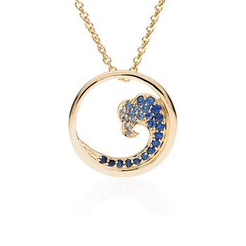 Sapphire Wave pendant