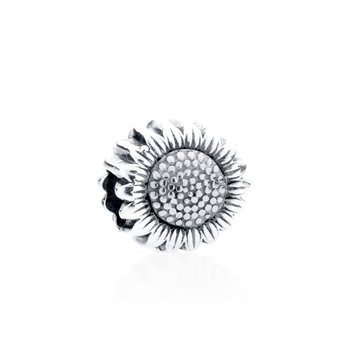 Sunflower charm bead